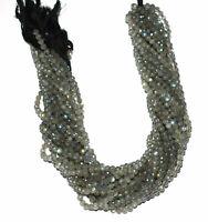 "Wholesale Lots Blue Labradorite Gemstone 4-4.5mm Round Beads 12.5"" Loose Strand"