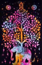Twin Thai Elephant Indian Tapestry Wall Hanging Mandala  Hippie Throw Bedspread