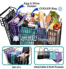 Lotus Trolley Bag Reusable Grocery Bags Set NEW Insulated Divided Eco-Friendly