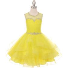 AQUA Flower Girl Dress Wedding Dance Party Pageant Gown Birthday Bridesmaid Prom