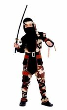 Carnevale Costume Ninja Comando TAGLIE VARIE Soldato Giapponese Nero Black