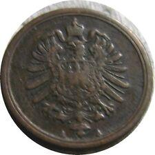 elf Germany Empire 1 Pfennig 1877 A  Key Date