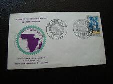 COTE D IVOIRE - enveloppe 1er jour 5/2/1962 (cy65)