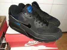 VTG 2010 NIKE AIR MAX 90 BLACK- BLUE SPARK UK8 US9 EU42.5 RARE RETRO 309299-30