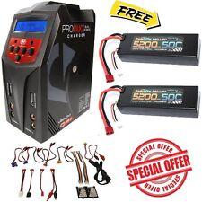 Powerhobby 2s 5200mah 50c Lipo Battery DEANS (2) + Venom 80W Duo Charger COMBO