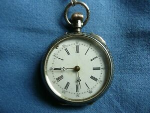 Vecchio orologio da taschino remontoir