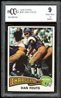 1975 Topps #367 Dan Fouts Rookie Card BGS BCCG 9 Near Mint+