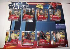 Retired Star Wars Ep I - III MOVIE HEROES Walmart Exclusive 8 Multi Figure Pack