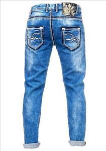 Rusty Neal Jeans Levin 4 blau 7444-4 Jeanshose mit Kontrastnähten