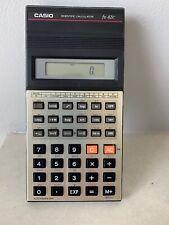 Calculadora Científica Casio fx-82C Vintage De Trabajo Japón 1985 Con Estuche