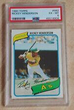 New listing 1980 Topps Rickey Henderson RC PSA 6 Oakland A's NY Yankees MLB HOF