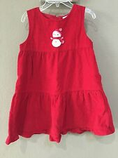 Gymboree Red Winter Dress Snowman Christmas Size 5t euc worn once