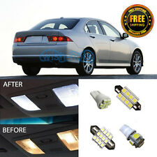 12X Car Pure White LED Interior Lights Package For 2004-2008 Acura TSX
