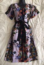 (#1406) KEW 159 (JIGSAW) Lovely Floral Shift or Tea Dress Size 8 UK