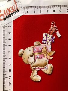DECOUPAGE CARD Tattered Lace Die Cuts x4 Charisma Birthday Christmas Bear Gifts