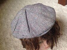 Vtg L.L. BEAN Hanna Hats of Donegal Herringbone Cap Wool Tweed Ireland M