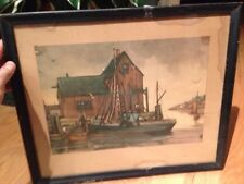 MAGNIFICENT Original WATER COLOR PAINTING BY Harold C. Wolcott