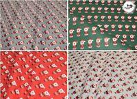 "Premium Christmas Printed 100% Cotton Craft Cotton, Santa Print , 54"" Wide"