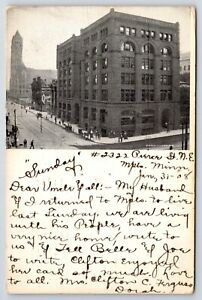 Minneapolis Quaker Oats Billboard~New Life Life Ins Office~Old Buildings 1908 PC