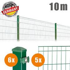 10m Komplett Set Doppelstabmatten Draht Zaun DSM Einzelstabmatten Zaunset Matte