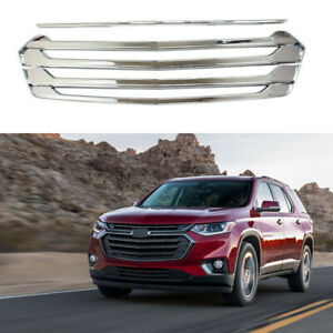 Grille Cover For 2018-2021 Chevrolet Traverse Front Grill Overlay Chrome ABS