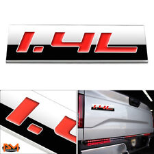 """""""1.4L"""" Polished Metal 3D Decal Red Emblem Exterior Sticker For Chevrolet/Buick"""