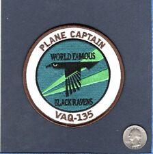 Vaq-135 Black Ravens Plane Captain Us Navy Ea-6B Prowler Squadron Jacket Patch