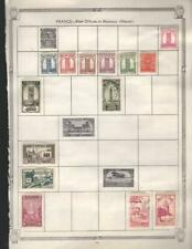 1¢ WONDER ~ FRENCH COLONNIES M&U SMALL LOT ON PAGES ALL SHOWN ~ K957