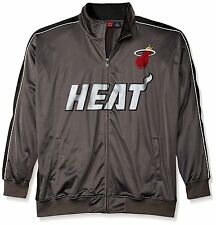 NEW Men's Big and Tall Miami Heat Reflective Track Jacket 3XL Charcoal/Black