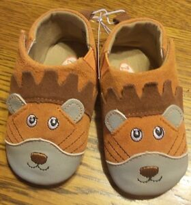 Size 3 Zooligans Baby Boys Leonard the Lion Soft Soled Booties - NIB