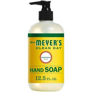 Mrs. Meyer's Clean Day Liquid Hand Soap Bottle, Honeysuckle Scent, 12.5 fl oz
