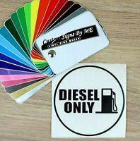 Diesel Only Car Fuel Filler Cap Door Sticker Vinyl Decal Adhesive BLACK