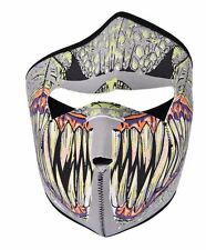 "CAGOULE / MASQUE en NEOPRENE ""DEMON"" Moto/ Airsoft/ Ski Fantome Ghost Mort Mask"