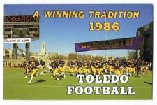 UNIVERSITY of TOLEDO ~ 1986 Football Pocket Schedule ~ FREE SHIPPING