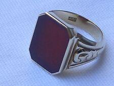 schöner Herrenring Siegelring Karneol 333er Gold Ringgröße 63
