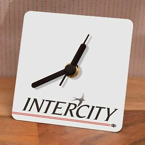 Intercity Rail Sign - Small desk clock