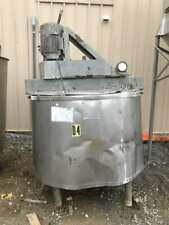 375 Gallon Stainless Insulated Steam Kettle / Mixing Tank w/ 1/2Hp Lightnin Nd-2