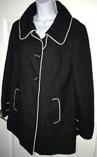 Liz Lange Target Maternity Jacket MEDIUM Polka Dots black coat button front CUTE