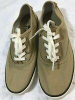 New women/'s Margaritaville Tahiti Stone Memory Foam Canvas Boat Shoes US Size 6