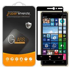 Supershieldz Nokia Lumia 830 Full Cover Tempered Glass Screen Protector (Black)