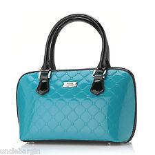 Serenade Aqua Monroe Genuine Leather Handbag (H70-9387)