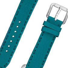 Fendi Women's Selleria 19 MM Wide Teal Blue Leather Pin Buckle Strap SSN18RB3S