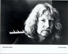 Eberhard Weber press kit, 1980, COOL record company GLOSSY photo! jazz bassist