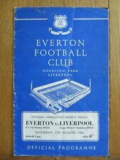 More details for everton v liverpool 1966 fa charity shield football programme
