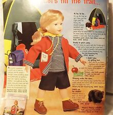 Magic Attic Doll Camping / Hiking Collection Plush bear cub - Retired - New