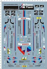 1/24 Scale BMW M3 E92 DTM 2012 Martin Tomczyk 1# Sports Model Kit Marine Decal