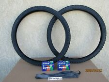 26'' X 1.95 ALL BLACK BICYCLE TIRES, [2] TUBES & [2] LINERS FOR , MTB, CRUISER