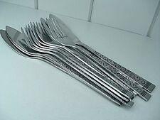 Fish cutlery jacoberg Inox Set de six 1970 S Vintage