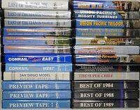 🔴 24 Pentrax VHS Tape Lot Conrail Alco Union Pacific HO Train Railroad
