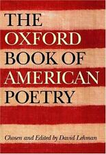 The Oxford Book of American Poetry by David Lehman Hardcover Book (English)